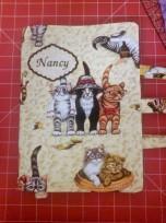 fabric kitty journal